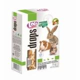 LO-дропсы для грызунов и кроликов медово-молочные