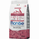 Monge Dog для собак всех пород говядина с рисом