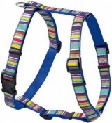 Hunter Smart шлейка для собак Ecco Fun Stripes XS (23-35/25-41 см) нейлоновая