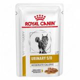 Royal Canin Veterinary Diet Pouch Urinary S/O Moderate Calorie Feline с курицей в соусе 85г