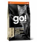 GO! Cat Solutions Carnivore All Life Stages Grain Free с ягнёнком и мясом дикого кабана