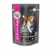 EUK Dog паучи для собак с ягненком в соусе