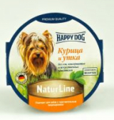 Happy Dog Natur Line паштет из курицы и утки