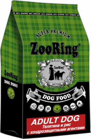 ZooRing  Adult Dog Телятина и рис с хондрозащитными агентами